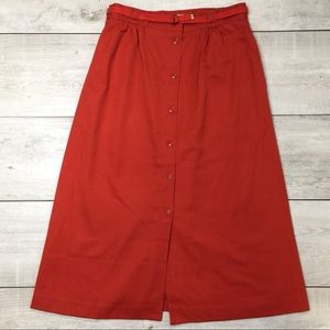 COLLEGE TOWN Vintage 70s Button Front A-Line Skirt